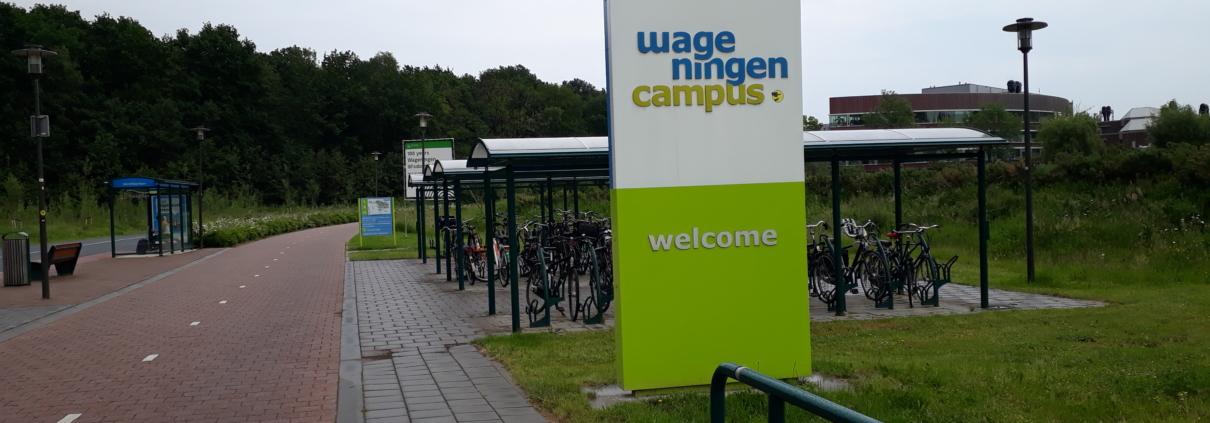 ingang campus wur bij bushalte mondriaanlaan wageningen 24 mei 2018